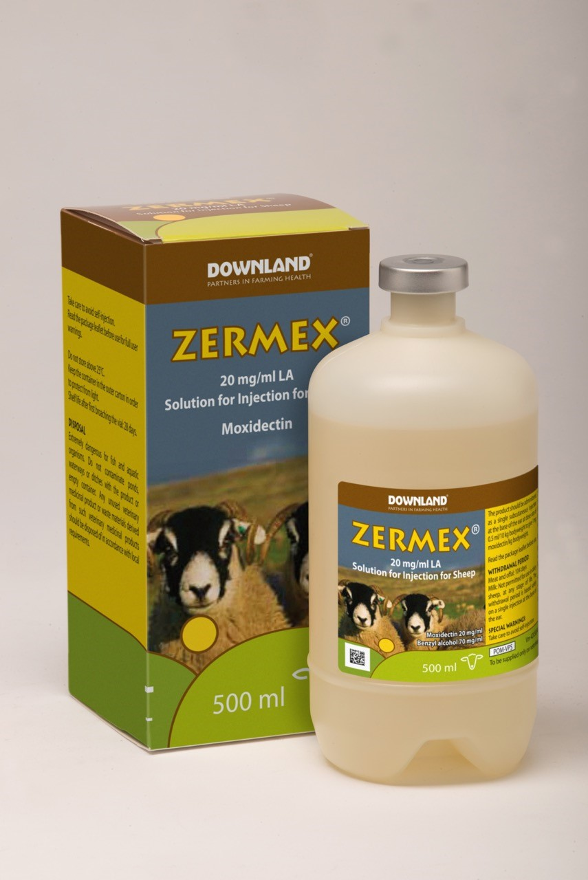 Zermex 2% LA Injection for Sheep - DownlandDownland